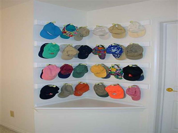 25 best ideas about baseball hat racks on pinterest for Baseball hat storage solutions