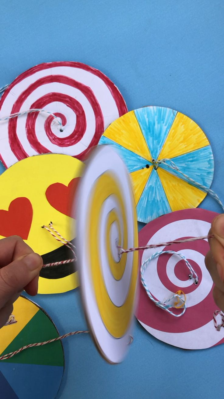 DIY Paper Spinner Toys – Red Ted Art