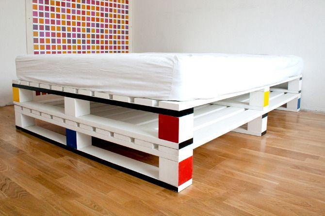 pallet bed, assim parece menos rústico.