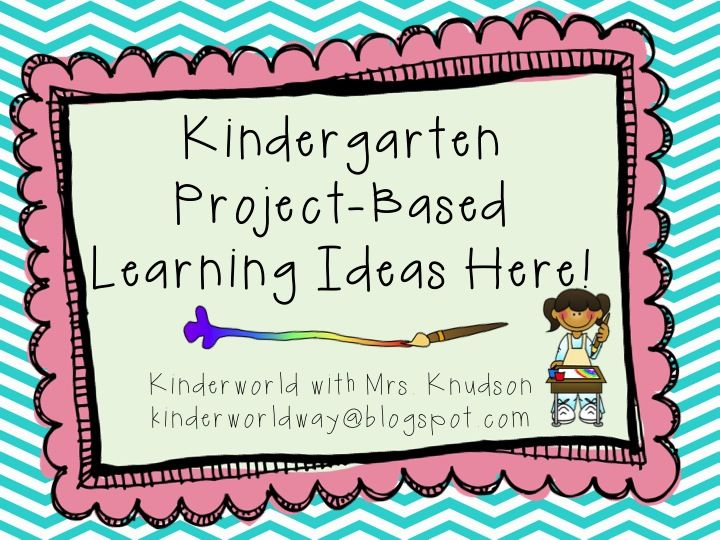 KINDERWORLD: Project Based Learning Ideas  with Mrs. Knudson  kinderworldway@blogspot.com