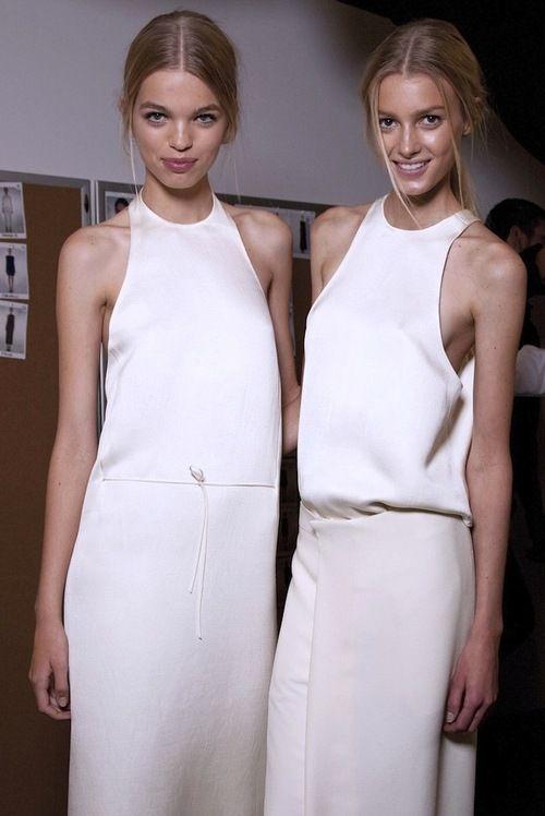 Daphne and Sigrid at Calvin Klein SS 11