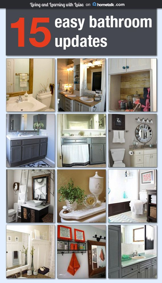 25 best ideas about easy bathroom updates on pinterest for Bathroom update ideas