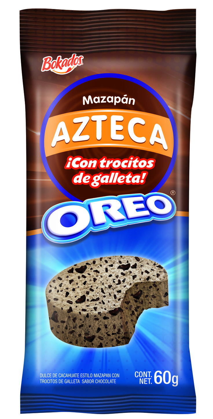 Mazapán Azteca Oreo found in Ensenada, Mexico during my cruise excursion. Peanuty, milky and crumbly Mexican marzipan like De La Rosa http://www.amazon.com/Rosa-Marzipan-Peanut-Candy-Packs/dp/B0000ICLKY but with an oreo flavour and crushed oreos!