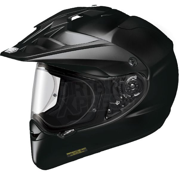 2015 Shoei Hornet ADV On/Off Road Helmet in Black part of the huge Motocross Helmet range at  www.dirtbikexpress.co.uk. Order online now for Free UK Delivery.