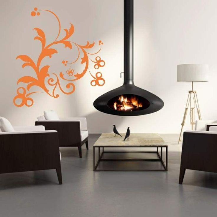 Naklejka jednokolorowa - Ornament   Singlecolor decorative sticker - Ornament   35,49 PLN #ornament #naklejka #dekoracja_ściany #dekoracja_domu #aranżacja_ściany #wall_decal #sticker #orange #pattern #home_decor #interior_decor
