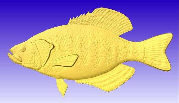 Fish 3d vector art for cnc projects and carving patterns in stl file format