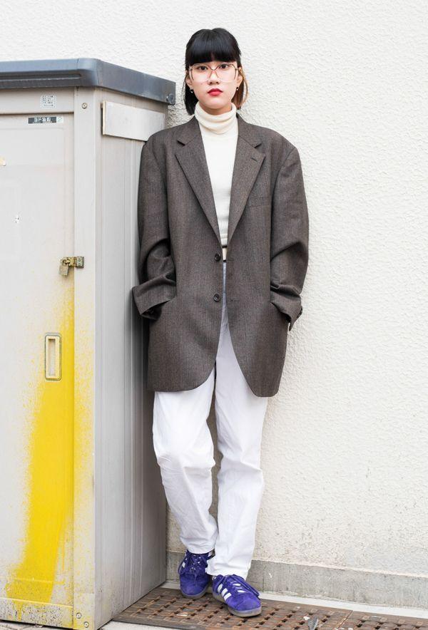 【キャンパス・パパラッチ DAILY】オーバーサイズのジャケットがポイント、山下萌さん