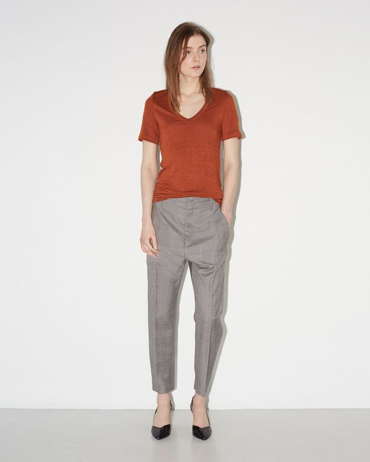 ISABEL MARANT ÉTOILE | Kranger Linen Tee Shirt | Shop at La Garçonne