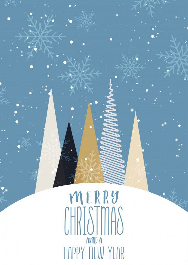 Download Christmas Card Background With Simplistic Tree Design for