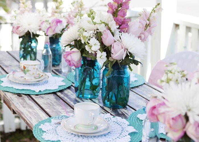 Backyard tea party.