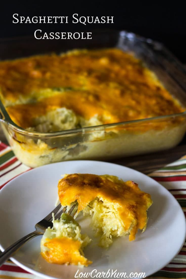 Try this warm low carb and gluten free cheddar broccoli spaghetti squash casserole as a side or main course dish. It takes little time to prepare the dish!