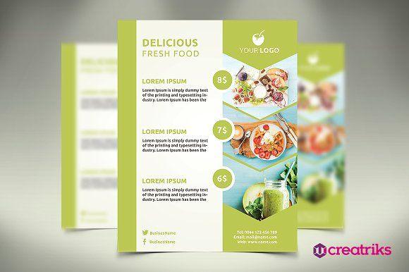 Fresh Food Flyer by Creatricks on @creativemarket