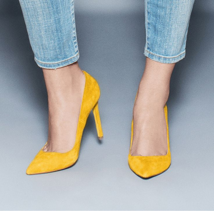shoes for women: Gelareh (mustard suede) by ShoeMint