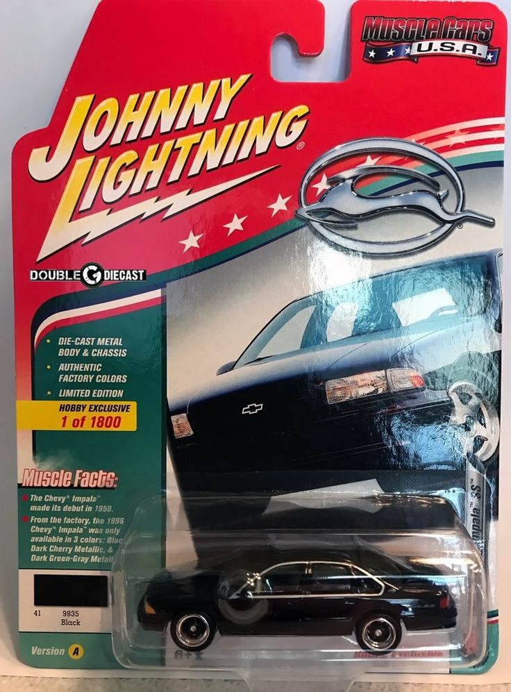 1996 Chevy Impala SS - Black - 1:64 Johnny Lightning Muscle Cars USA #JohnnyLightning #Chevrolet