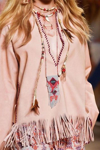 The fringe saw its revival as we spotted it on almost every runway