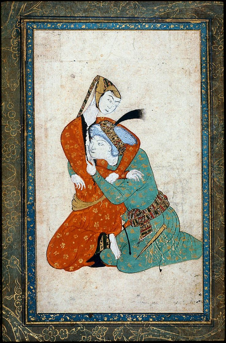 Man and Woman Embracing Persian 16th century Object Place, Iran 11.8 x 20.0 cm ACCESSION NUMBER 17.1353