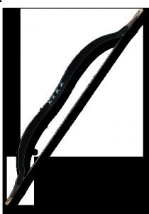 LARP-Reiterbogen, schwarz