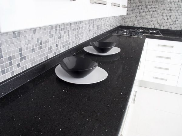Our Savana Quartz was the inspiration for this designer's minimal styled kitchen. This is one of our personal favourites.
