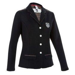 Veste de concours équitation femme PADDOCK noir