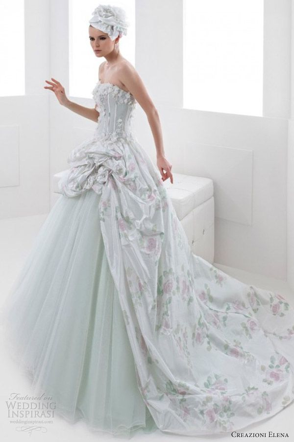 Ball Gown Wedding Dresses With Color : Best images about vestidos a?os on pink