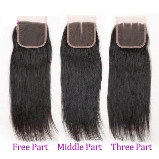 Brazilian Straight Non-remy Human Hair Weave 3/4 Bundles With Closure  Straight | Weave hairstyles, Peruvian hair bundles, Straight hair bundles