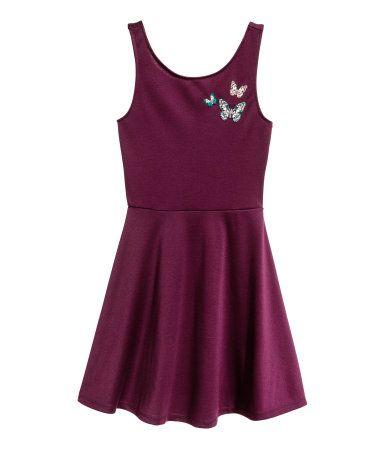 Tricot jurk | Aubergine | Dames | H&M NL