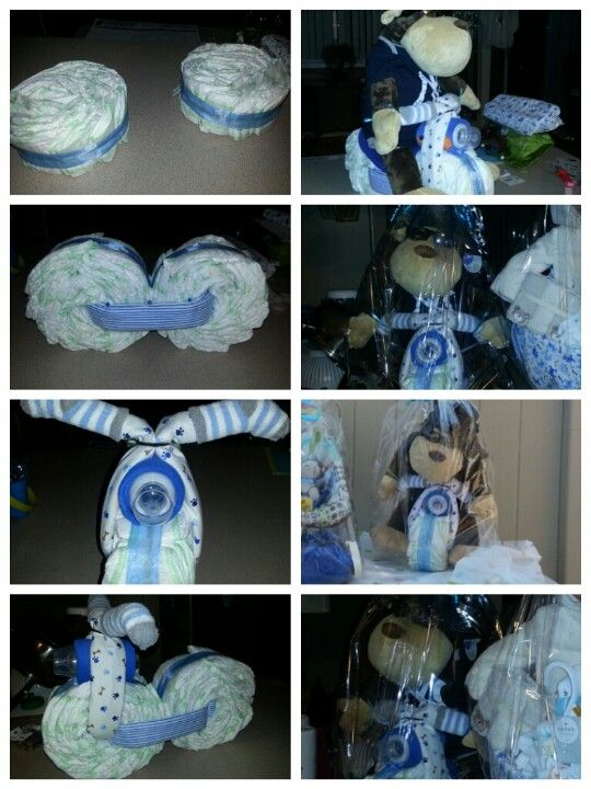 Made by Janine: Diaper Motorcycle for Baby shower : )  was sooo easy !!! & Cute