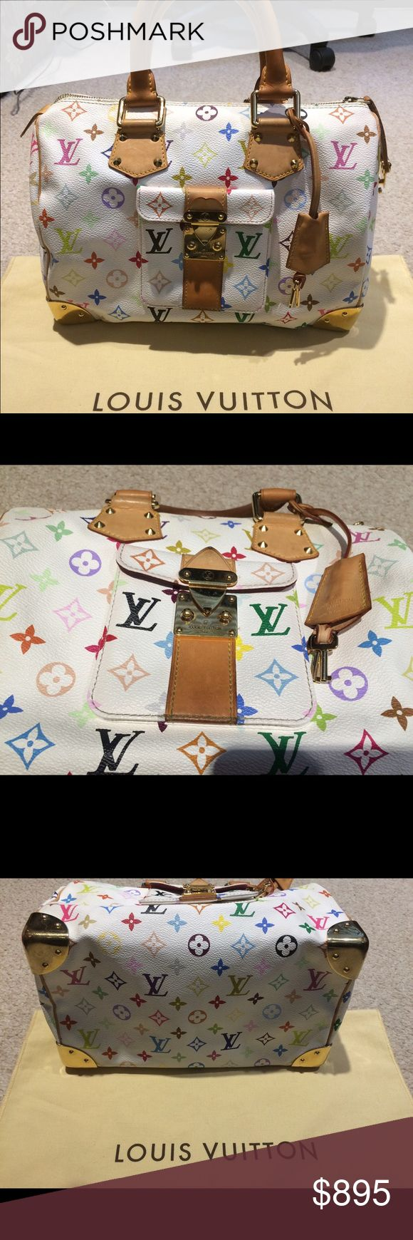 Spotted while shopping on Poshmark: Authentic Louis Vuitton Speedy 30 Multicolor! #poshmark #fashion #shopping #style #Louis Vuitton #Handbags