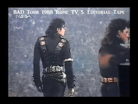 MJ BAD Tour 1988 Rome TV Station Editorial Tape (full) - YouTube