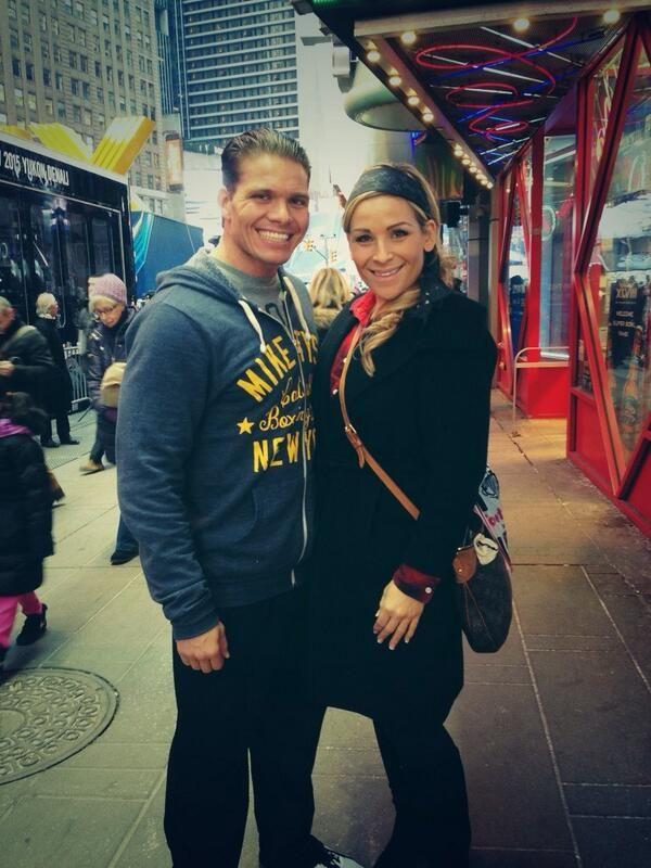 TJ Wilson (Tyson Kidd) & his wife Nattie Neidhart-Wilson (Natalya)