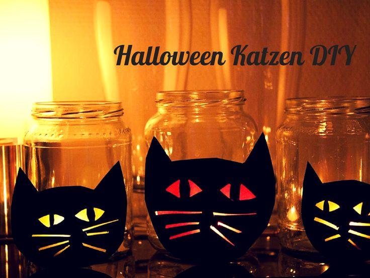 Halloween Katzen DIY - Dekoideen für Halloween auf www.meinesvenja.de