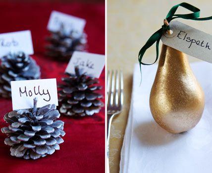 Glänzender Look: Sprühfarbe mit Metallic-Efekt - Winterliche Tischdekoration 8