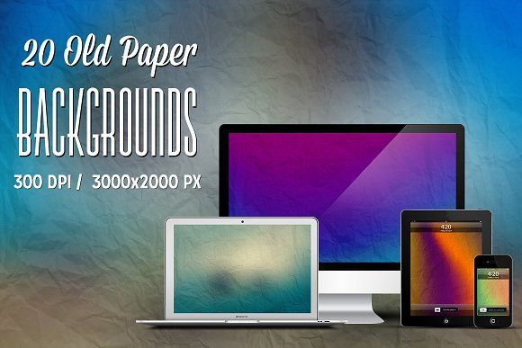 20 Old Paper Backgrounds by Illusiongraphic on @creativemarket