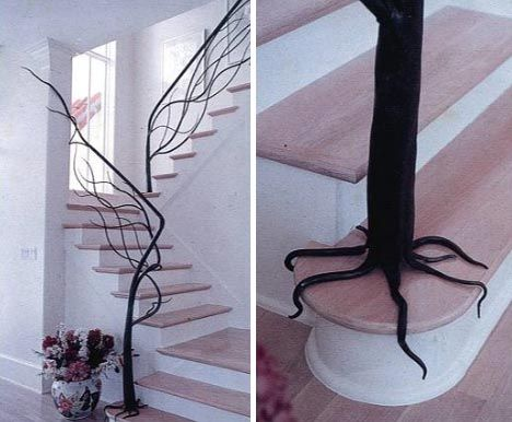 Awesome Tree Staircase Railing