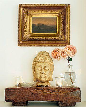 Buddha Head  East meets West Coast in this California house.