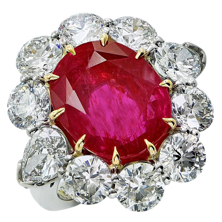 Aletto Brothers 8.66 Carats AGL No Heat Burma Ruby Diamond Platinum Ring