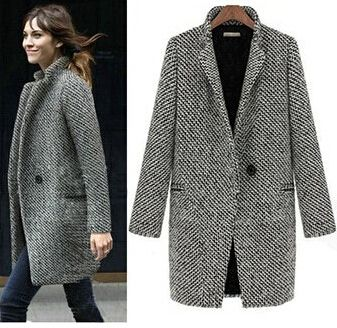 Cheap Nuovo 2015 progettazione new spring/inverno trench coat donna grigio medio lungo oversize calda lana giacca europea cappotto moda WT9086, Compro Qualità Lane & miscele direttamente da fornitori della Cina: