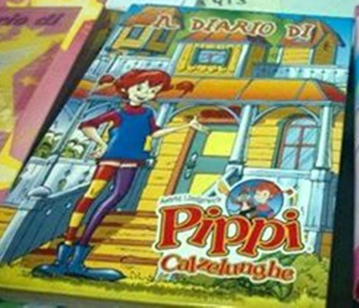 PIPPI CALZELUNGHE diario scuola vintage std nuovo da collezione