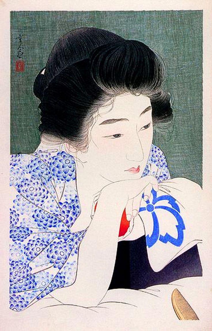retrato mujer japonesa