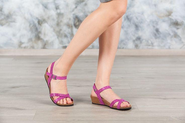 Sandales Papillio ALYSSA couleur rose pour femme en cuir velours (Nemo Berry) - PA409153 | Birkenstock France