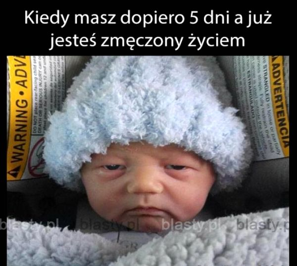 Kiedy+masz+dopiero+5+dni #funny #child #humor #funny child #memes #lol #children #funnydog #childmems #funnypictures #pictures #parents #pics