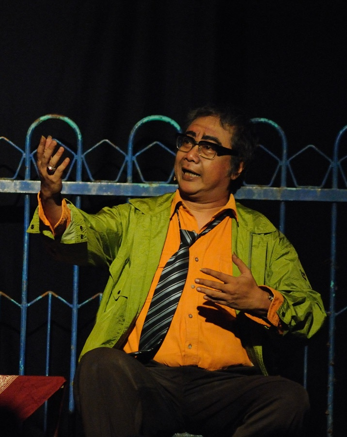 Butet Kertarejasa. one of the best monologue actor from Indonesia