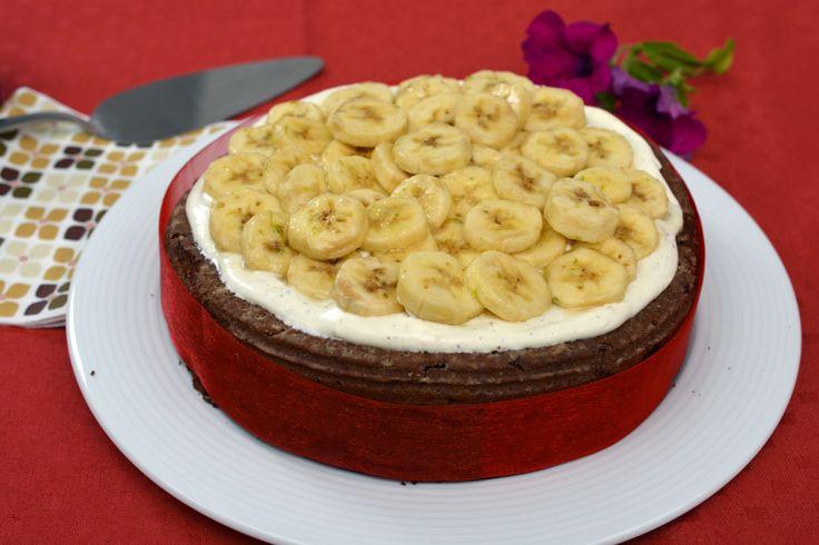 Chocolade-bananentaart voor #dagvandeleraar