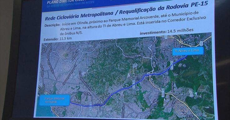Plano prevê 590 km de rede cicloviária no Grande Recife em 10 anos