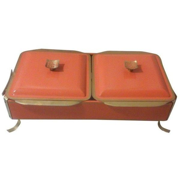 Orange and Brass Asian Chafing Dish Set ($595) ❤ liked on Polyvore featuring tabletop