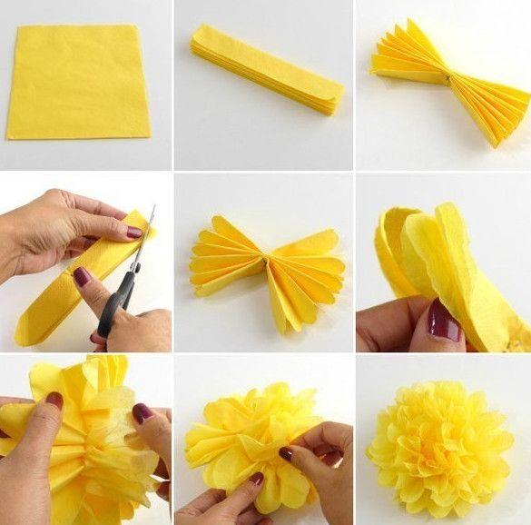 Цветок своими руками на голову из бумаги