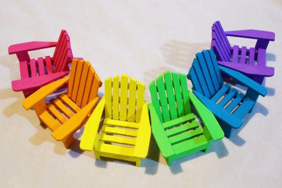 1 Miniature Adirondack Chair Hand Painted by FairyTreeMiniatures