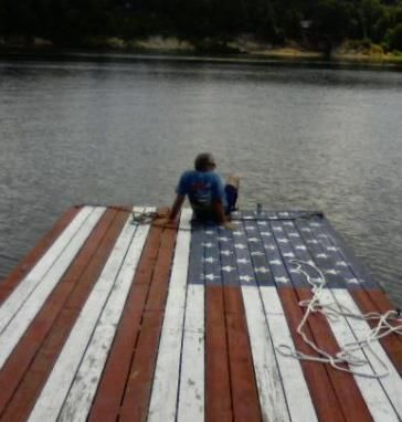 would be an awesome dock on our pond