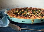 Fish pie, crunchy bacon, leek and caper topping by What Katie ate