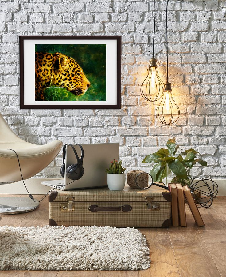 Jaguar art print, instant download art print, digital painting, jaguar painting, art print, animal art print, wall art, printable wall art by Traceyleeartdesigns on Etsy